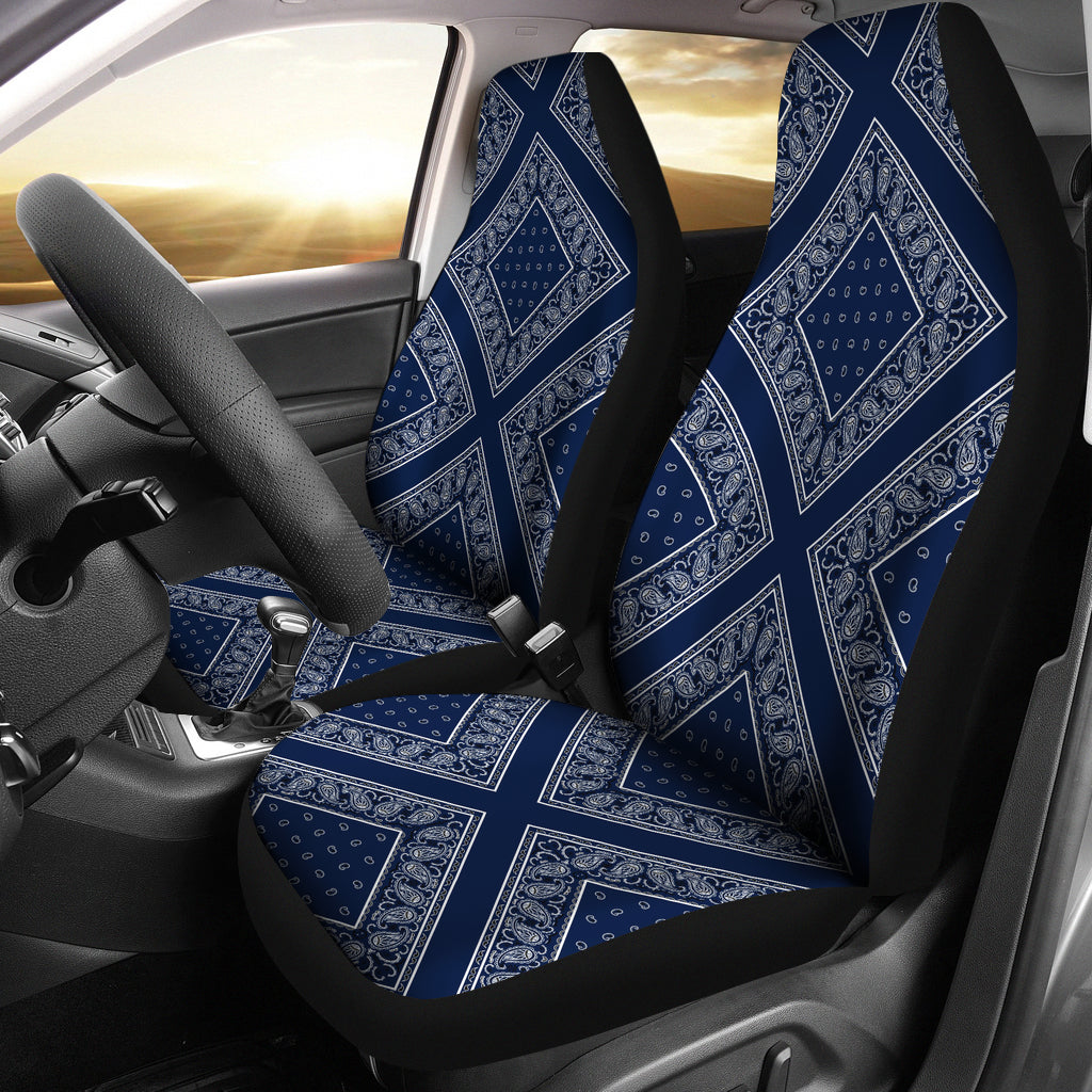 Navy Bandana Car Seat Covers