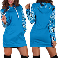 Sky Blue Bandana Hoodie Dress