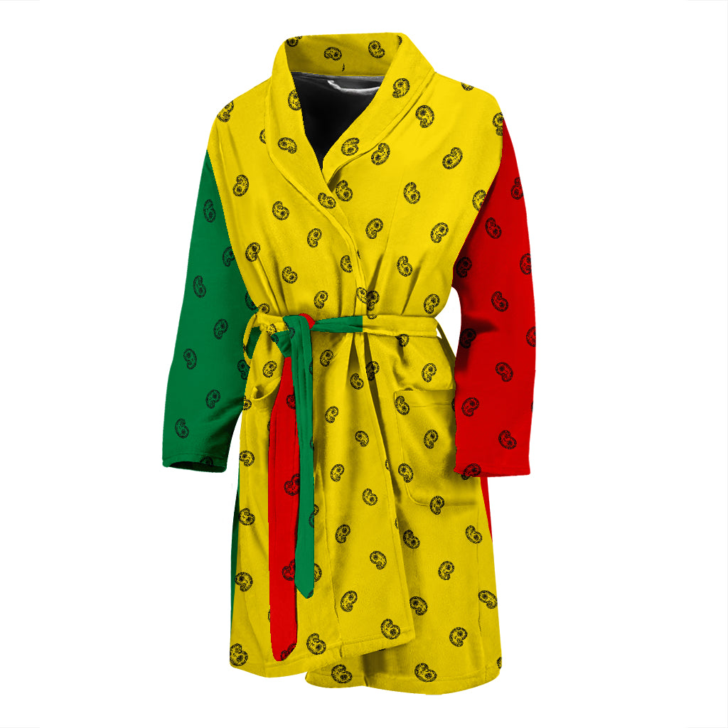 rasta flag bathrobe for men