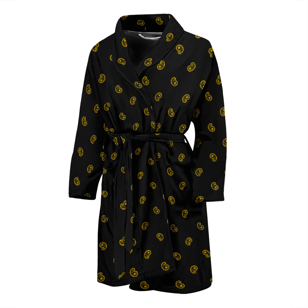 black paisley robe