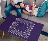 Royal Purple Bandana Rectangular Coffee Tables