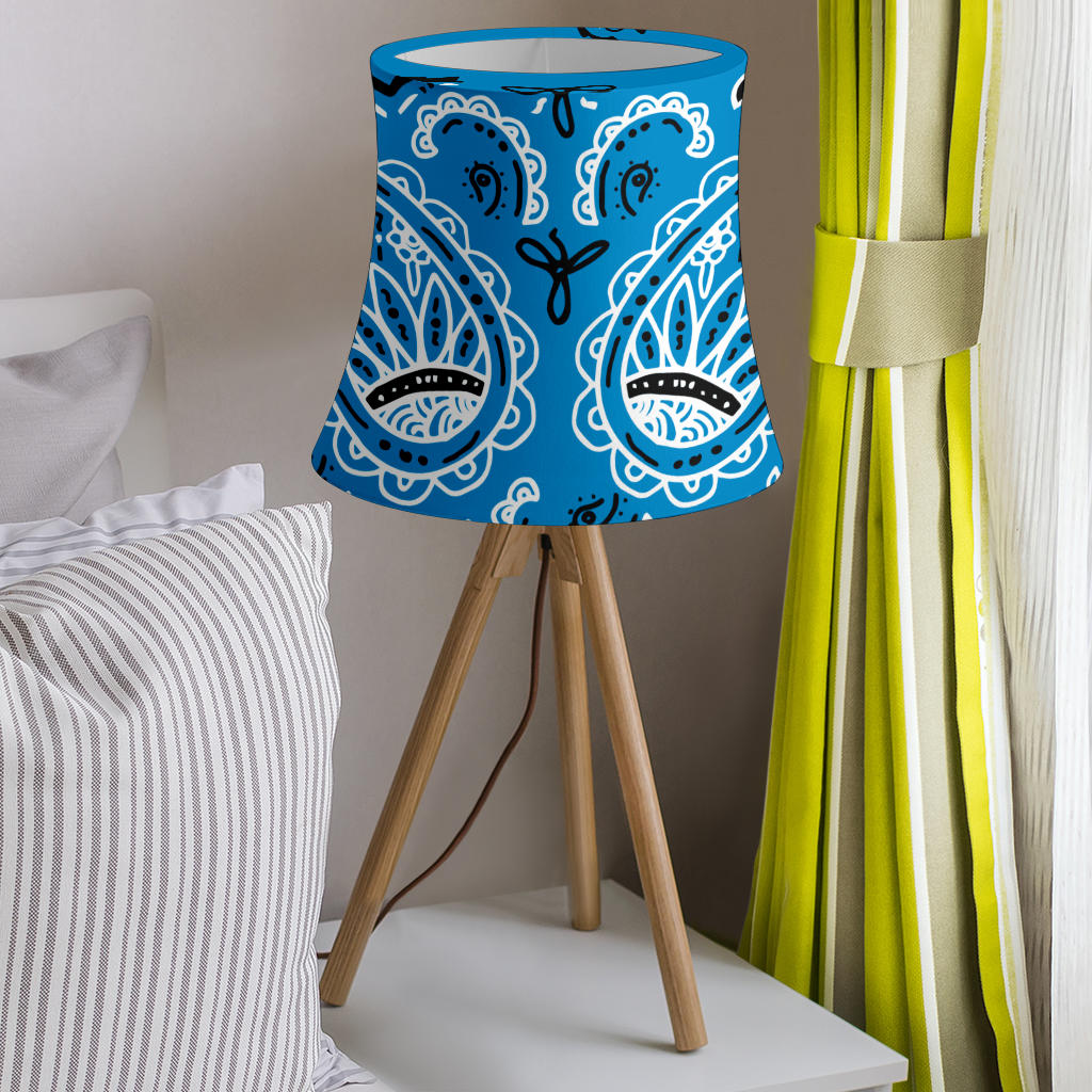 Blue Bandana Drum Lampshade