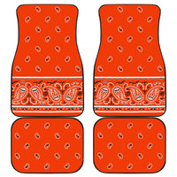 Quad Perfect Orange Bandana Car Mats - Fancy