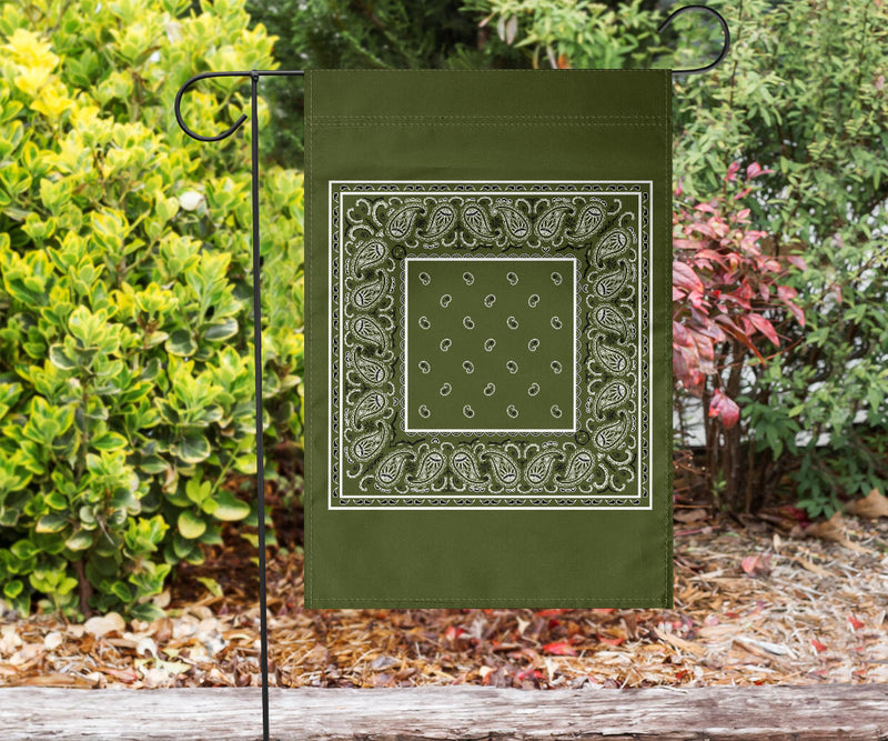Army green bandana flag