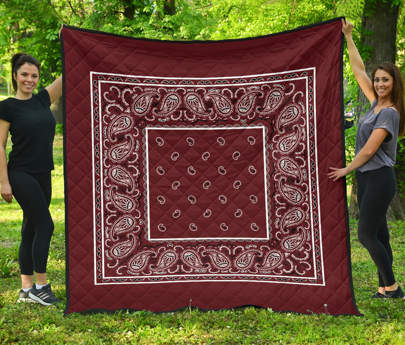Burgundy Bandana Bedding