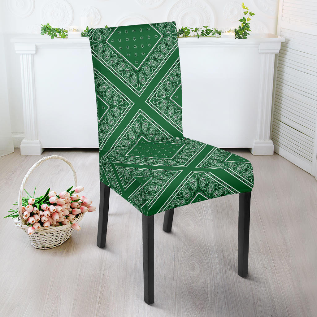 Green Bandana Dining Chair Covers