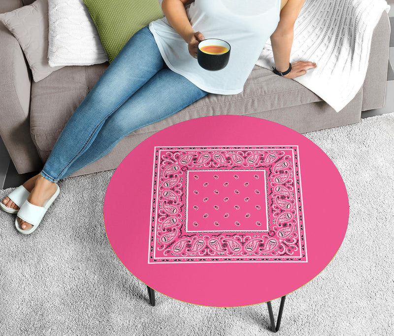 Pink Bandana End Table