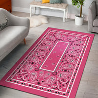 pink decorative rugs