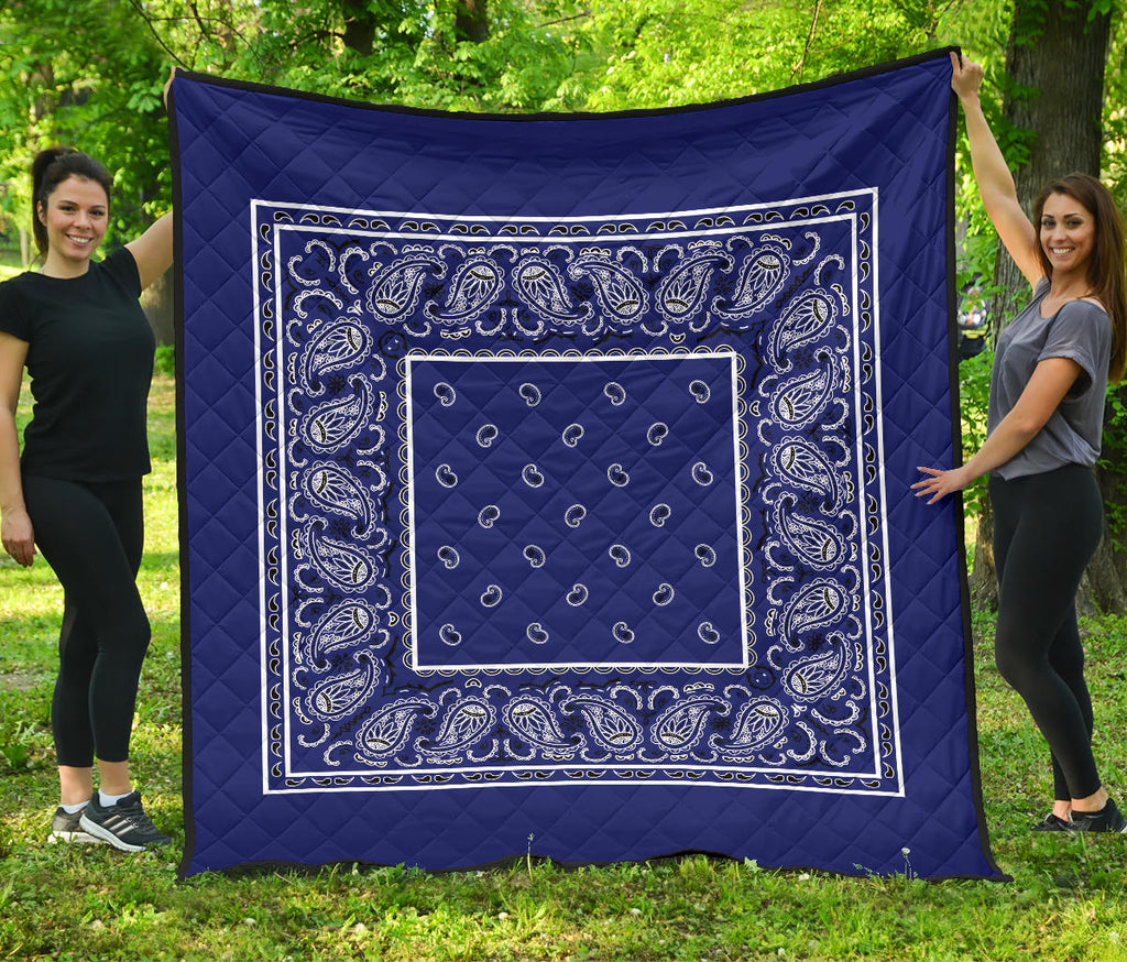 Royal Blue Bandana Bedding