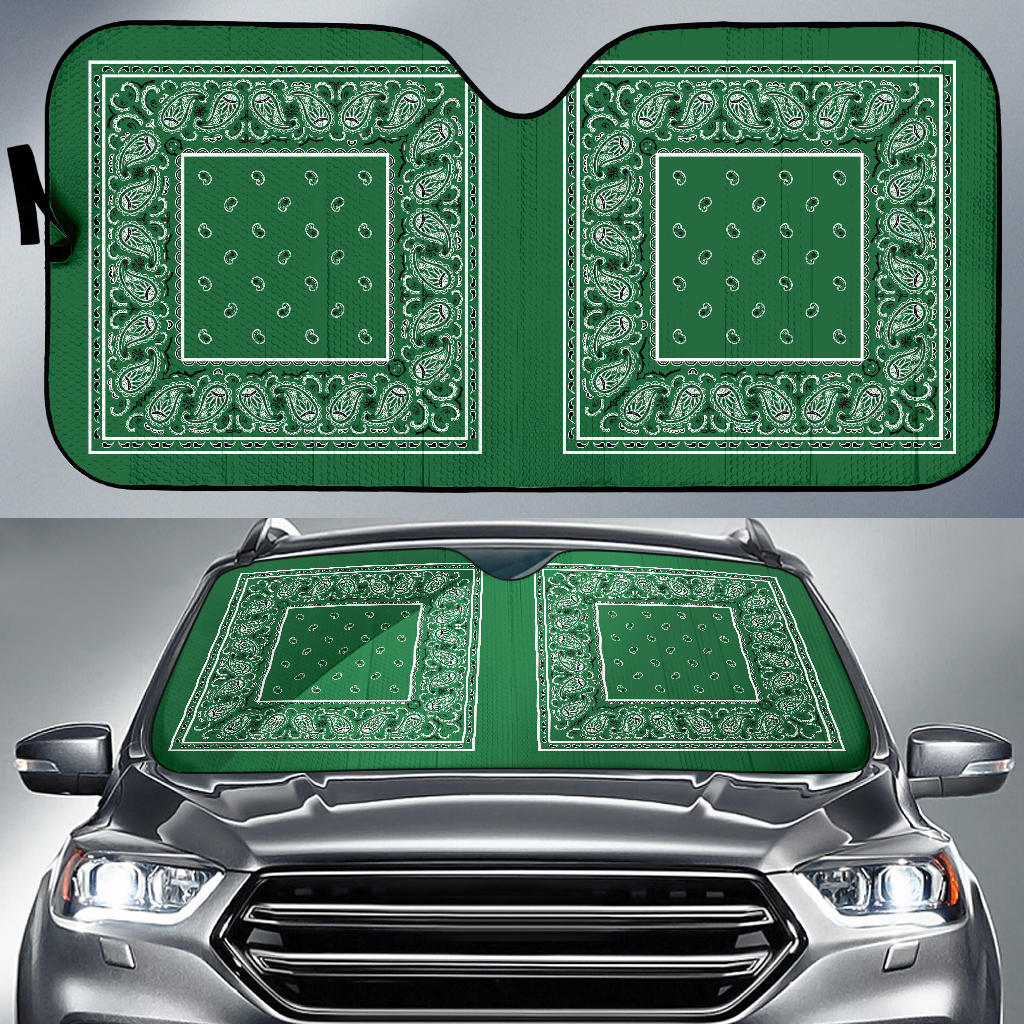 green money bandana car window shade