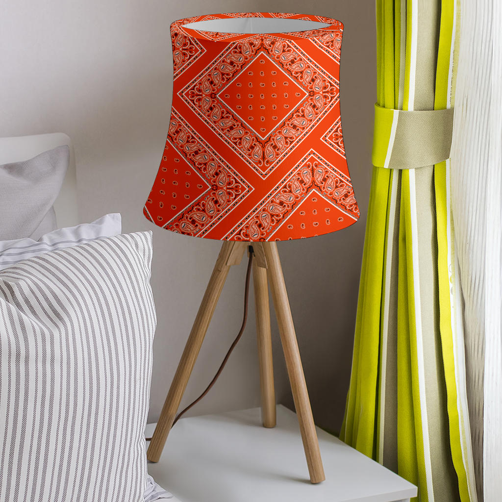 Orange Bandana Drum Lampshade