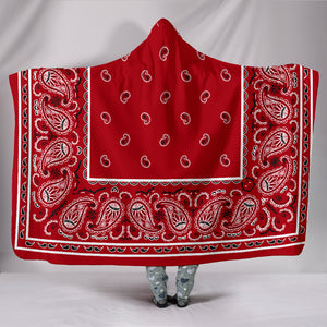 red bandana hooded blanket
