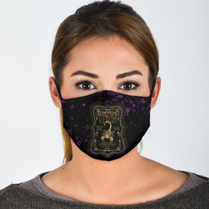Scorpion Venom Label Adjustable Face Mask