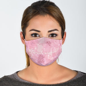 pink bridesmaid face mask for weddings