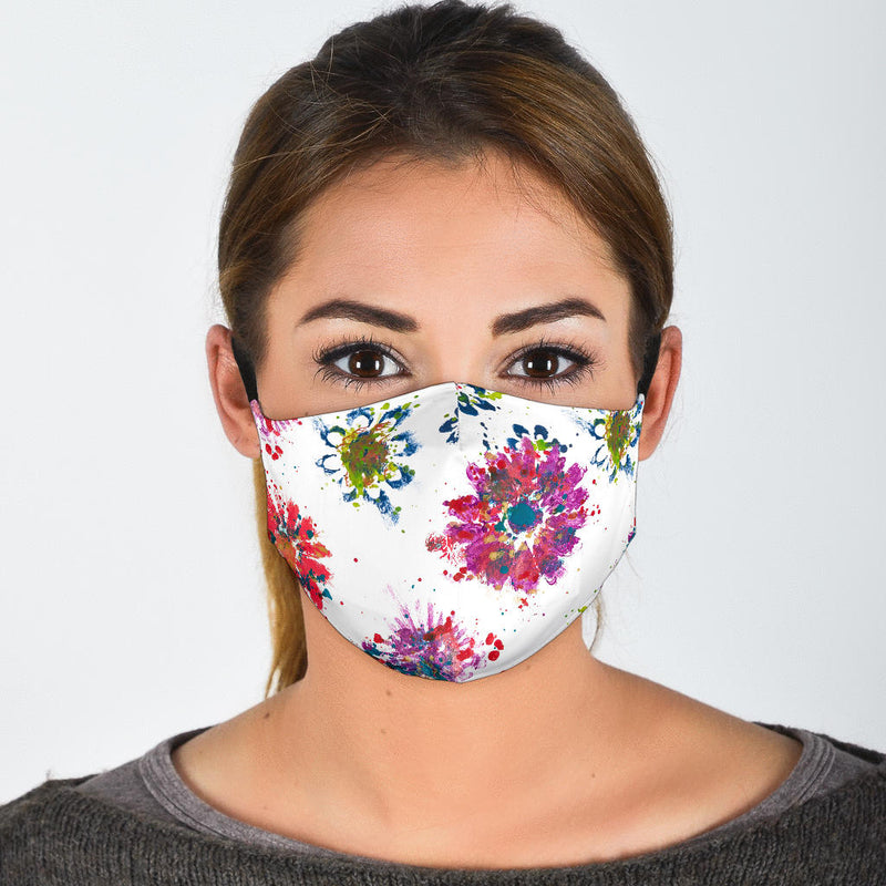 pretty flower covid face mask