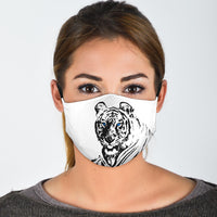 Tiger Addicts Face Masks in Gold or White