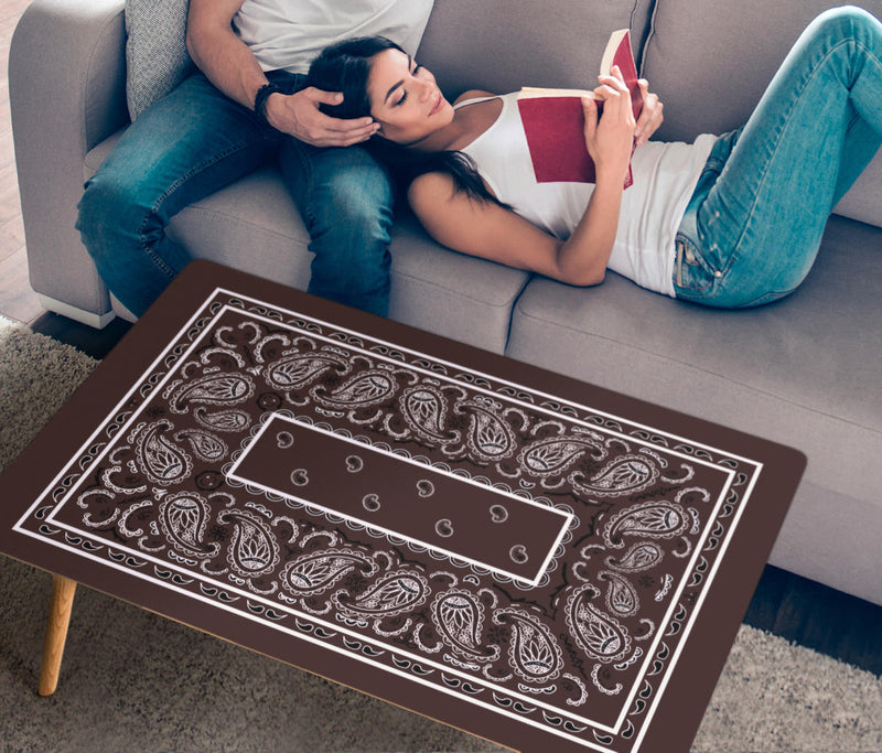 Brown Bandana Rectangular Coffee Table
