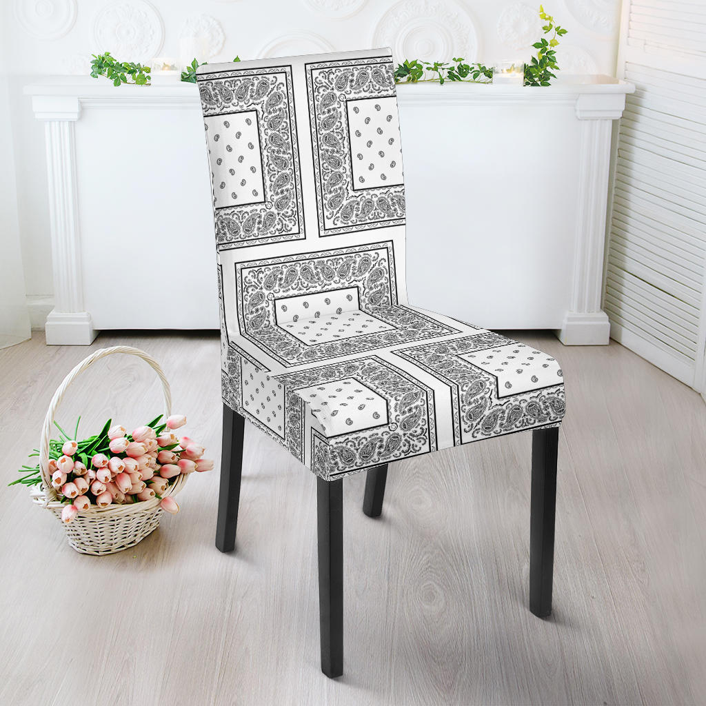 White Bandana Dining Chair Covers