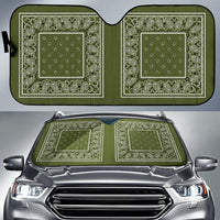 green bandana car window shade SUV