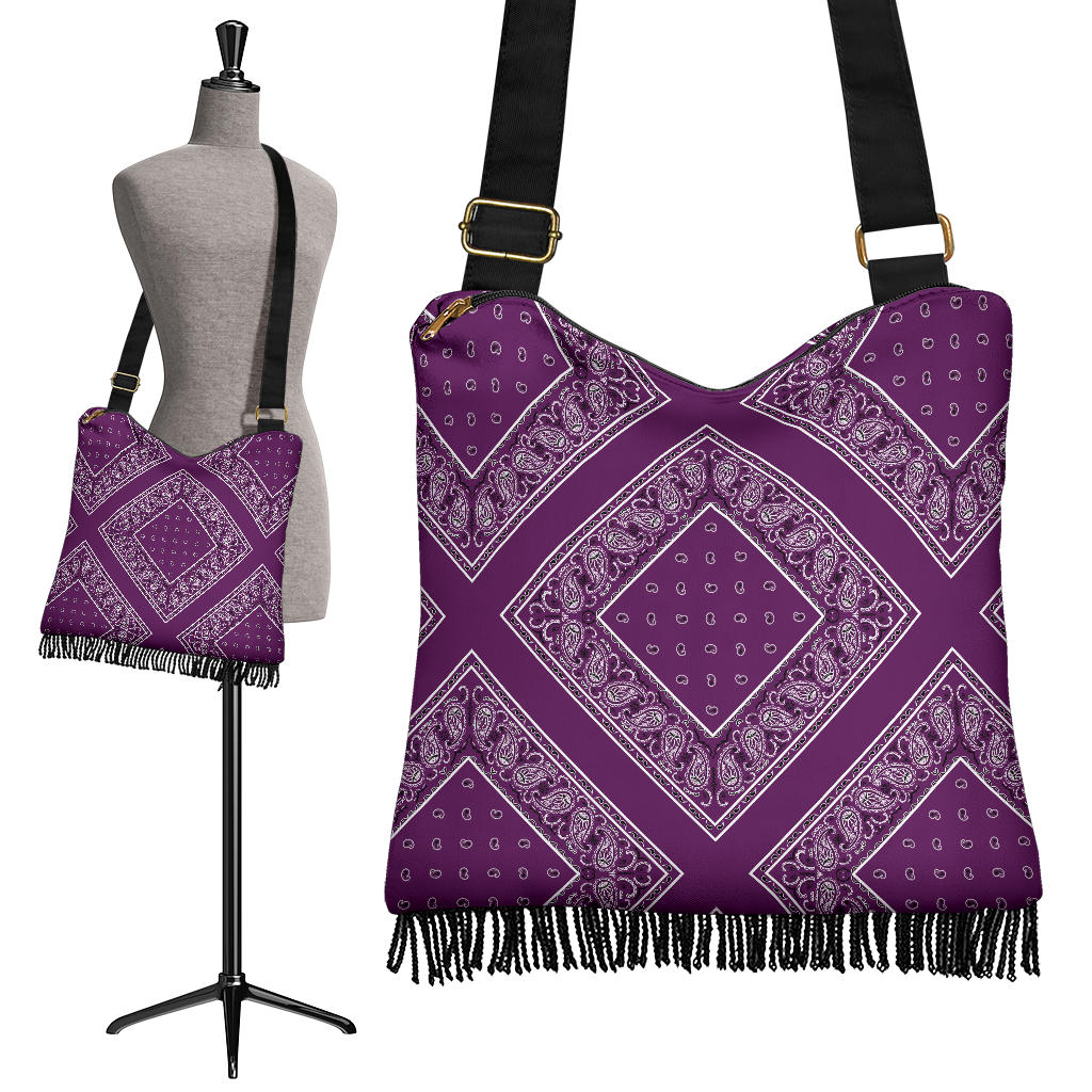 Plum Purple Bandana Crossbody Bag
