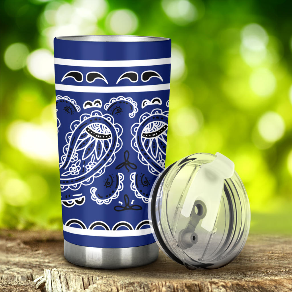 royal blue bandana car cup