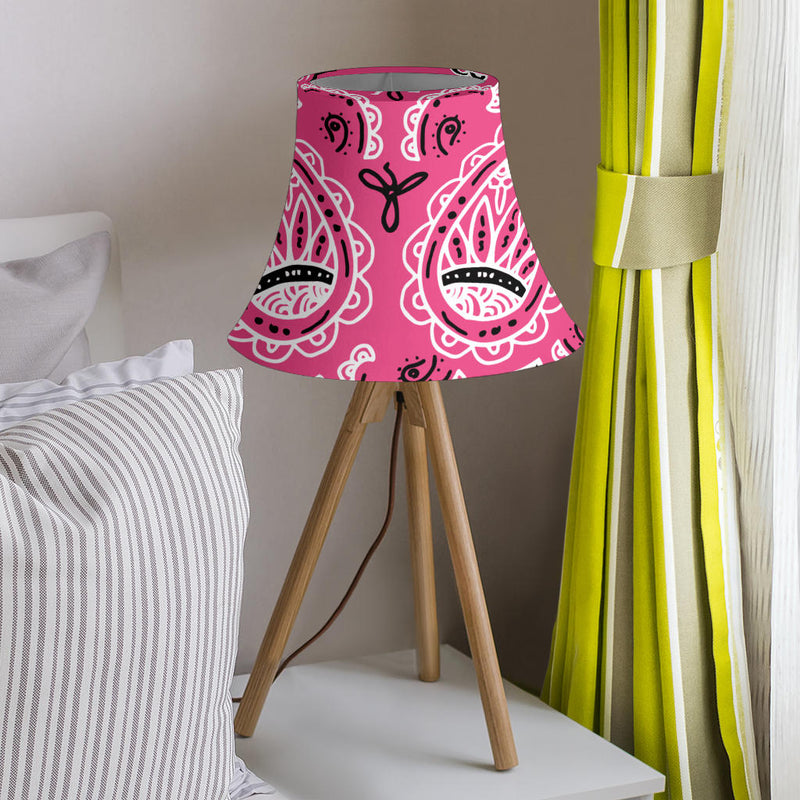 Warm Pink Paisley Bell Lampshade