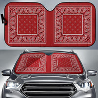 red bandana muscle car window shade