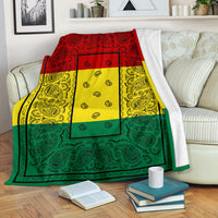 Ultra Plush Rasta Bandana Throw Blanket