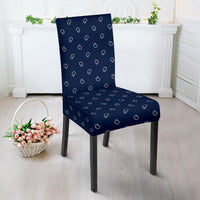 Navy Blue Bandana Dining Chair Slipcovers