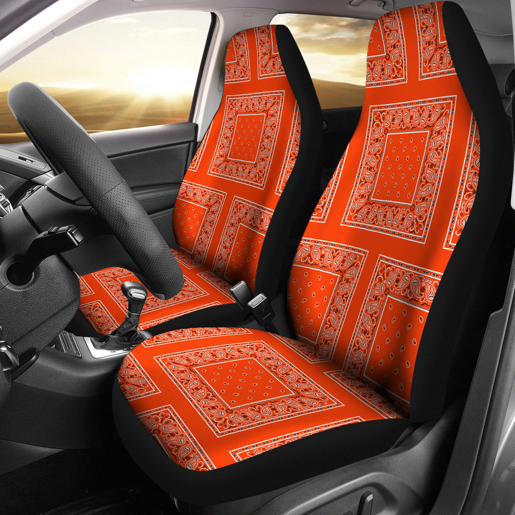 Perfect orange car seat covers