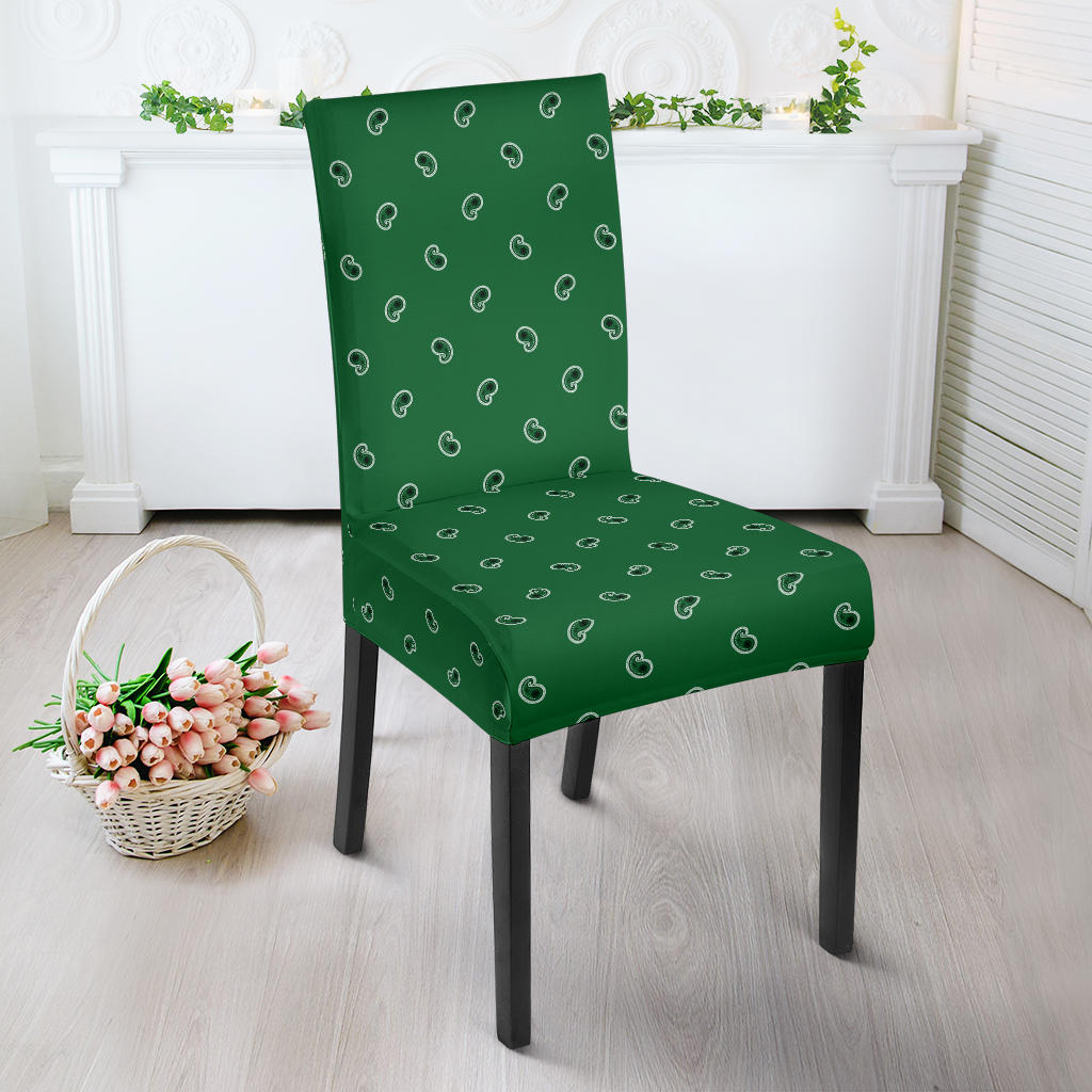 Green Bandana Dining Chair Cover