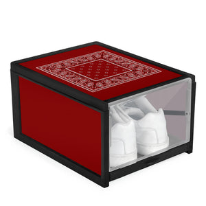 maroon red bandana sneaker box