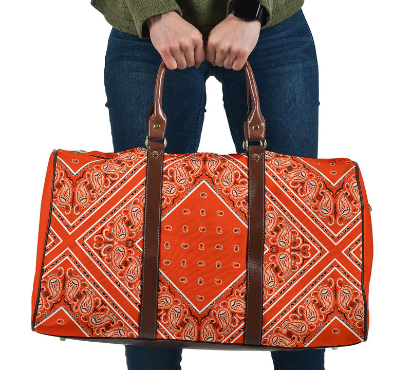 orange bandana travel bag
