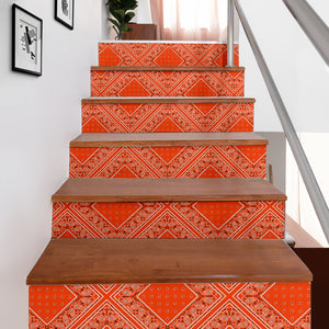 orange bandana stair sticker decor