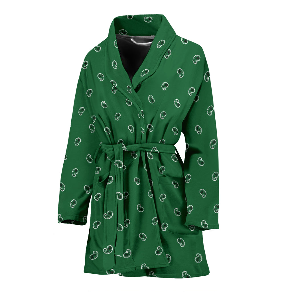 green bandana robe for women