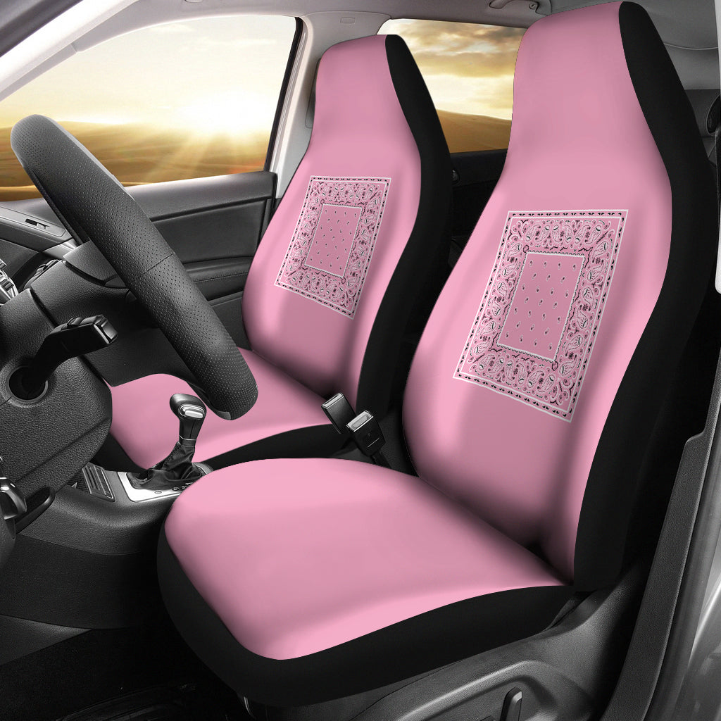 light pink minimal car seat cover