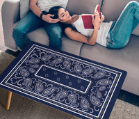 Navy Blue Bandana Rectangular Coffee Table