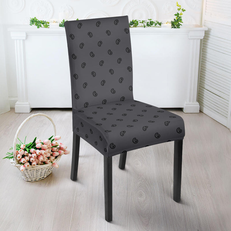 Gray and Black Dining Chair Covers