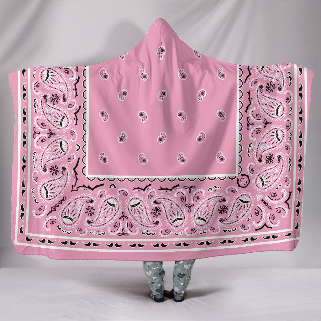 Pink Bandana Hooded Blanket
