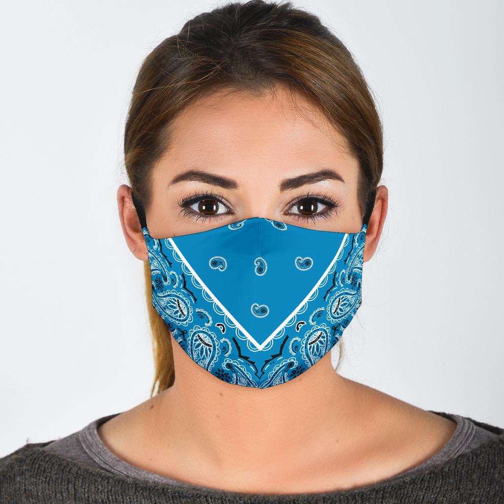 pretty blue coronavirus mask