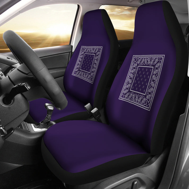purple bandana car seat covers