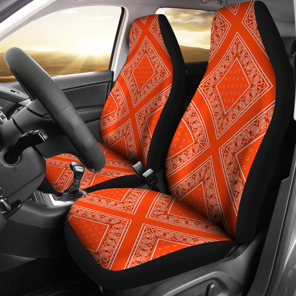 Orange car seat covers