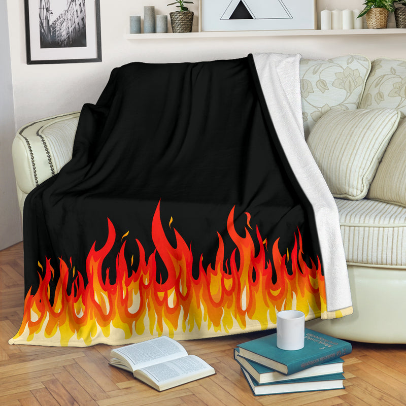 Flame Bandana Throw Blanket