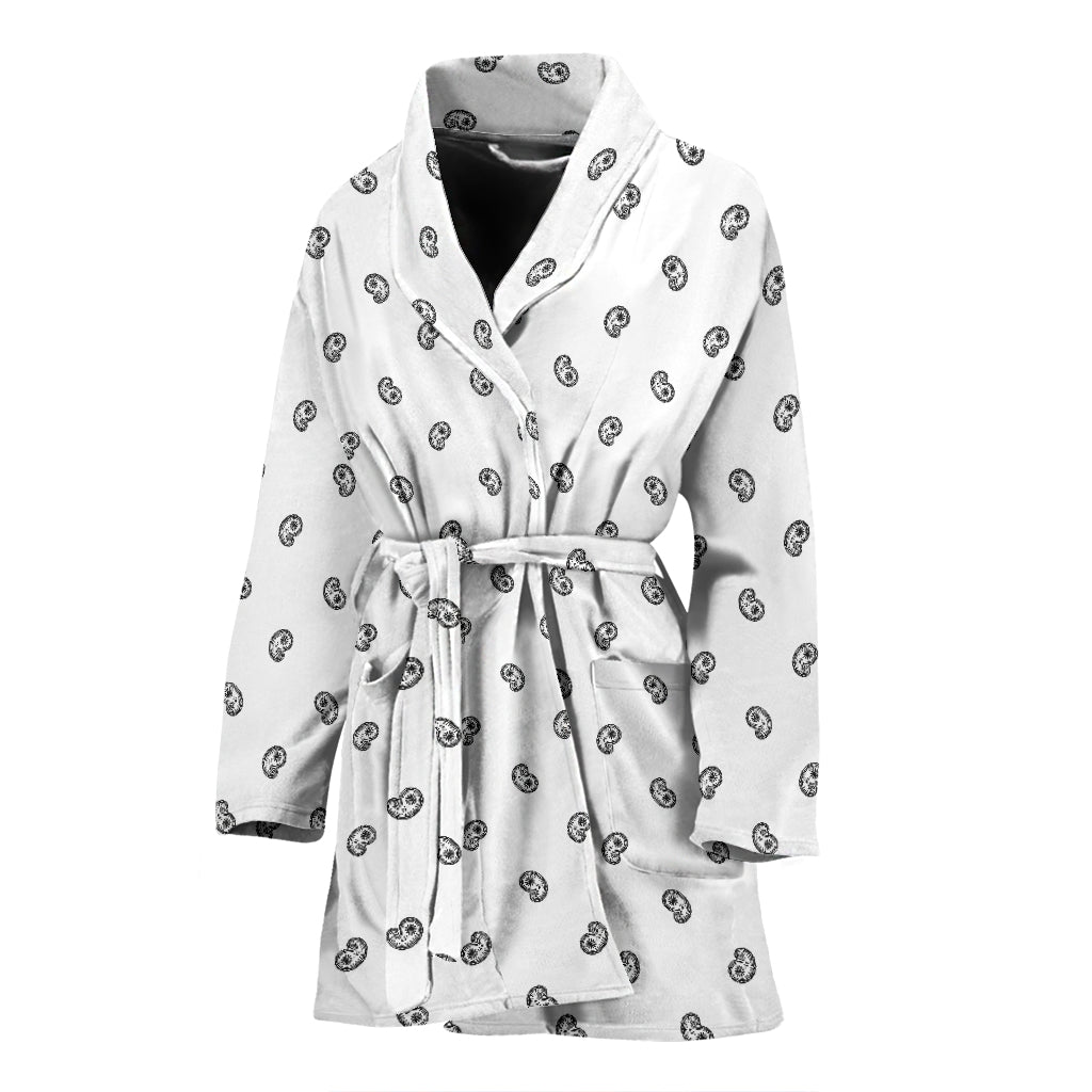 white bathrobe for women