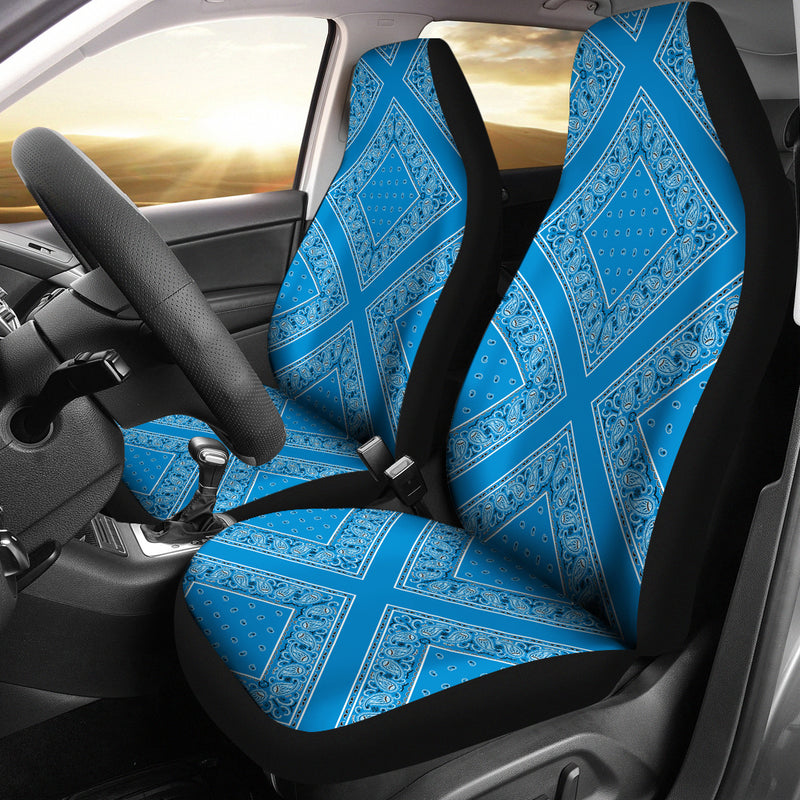 sky blue car seat covers