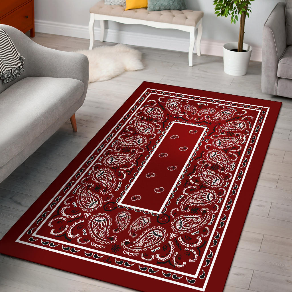 maroon red throw rug