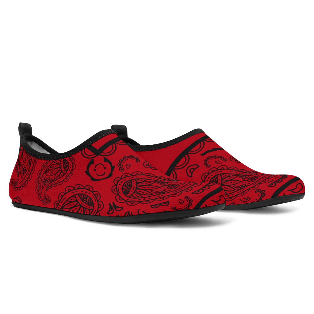 Red and Black Bandana Water Shoes