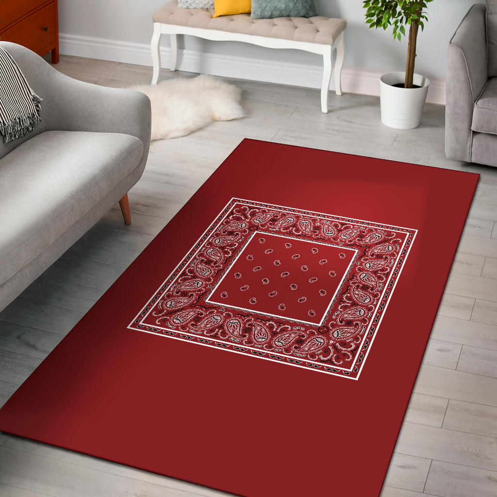 red bandana throw rugs