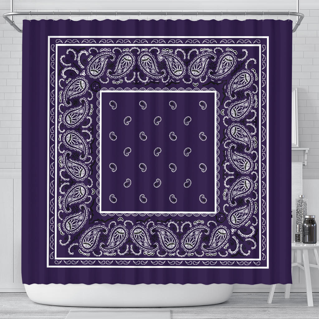 Royal Purple Bandana Shower Curtains