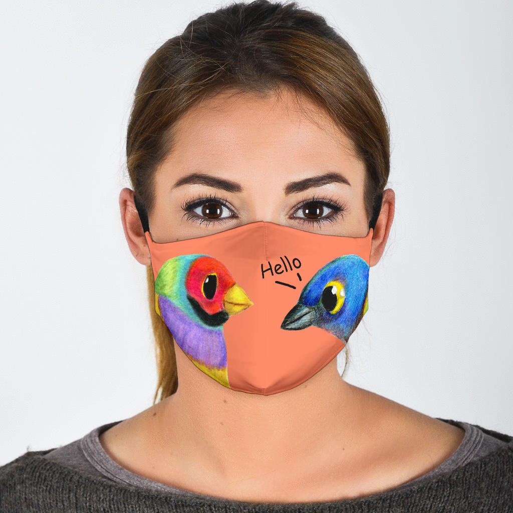bird lovers covid mask
